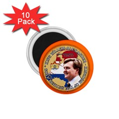 King Willem Alexander 10 Pack Small Magnet (round)