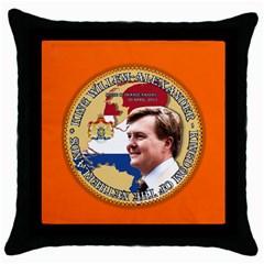 King Willem Alexander Black Throw Pillow Case