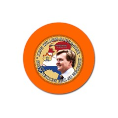 King Willem Alexander Large Sticker Magnet (round)