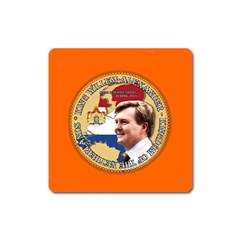 King Willem-Alexander Large Sticker Magnet (Square)