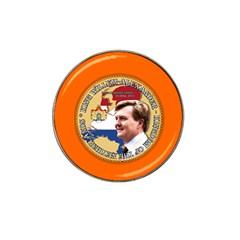King Willem Alexander 10 Pack Golf Ball Marker (for Hat Clip)