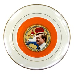 King Willem Alexander Porcelain Display Plate