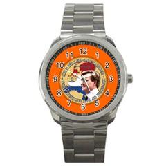 King Willem Alexander Stainless Steel Sports Watch (round)