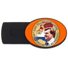 King Willem Alexander 4gb Usb Flash Drive (oval)