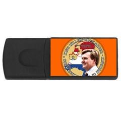 King Willem Alexander 4gb Usb Flash Drive (rectangle)