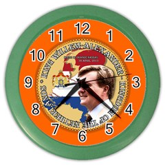 King Willem Alexander Colored Wall Clock