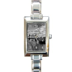 River Thames Waterfall Classic Elegant Ladies Watch (Rectangle)