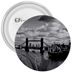 River Thames Waterfall Large Button (Round)