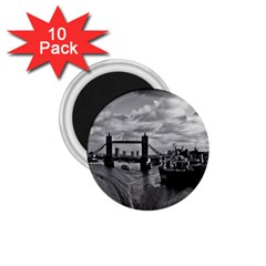 River Thames Waterfall 10 Pack Small Magnet (Round)