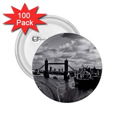 River Thames Waterfall 100 Pack Regular Button (round)