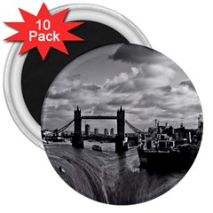 River Thames Waterfall 10 Pack Large Magnet (Round)