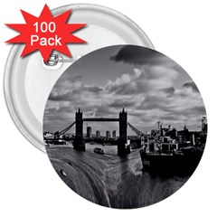 River Thames Waterfall 100 Pack Large Button (Round)