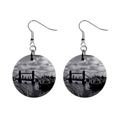 River Thames Waterfall Mini Button Earrings