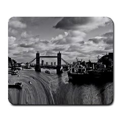 River Thames Waterfall Large Mouse Pad (Rectangle)
