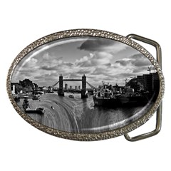River Thames Waterfall Belt Buckle (Oval)