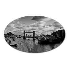 River Thames Waterfall Large Sticker Magnet (oval)