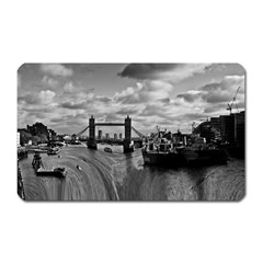 River Thames Waterfall Large Sticker Magnet (Rectangle)