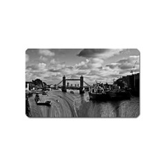 River Thames Waterfall Name Card Sticker Magnet