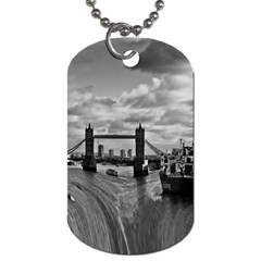 River Thames Waterfall Single-sided Dog Tag