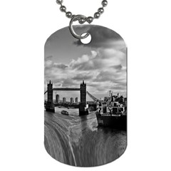 River Thames Waterfall Twin Sided Dog Tag