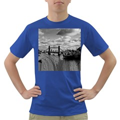 River Thames Waterfall Colored Mens'' T Shirt