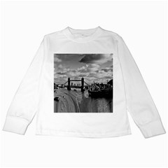 River Thames Waterfall White Long Sleeve Kids'' T Shirt