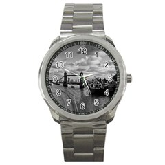 River Thames Waterfall Stainless Steel Sports Watch (Round)