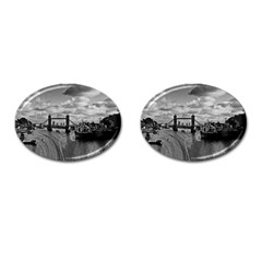 River Thames Waterfall Oval Cuff Links