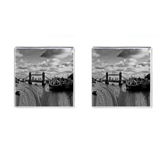 River Thames Waterfall Square Cuff Links