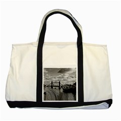 River Thames Waterfall Two Toned Tote Bag