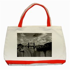 River Thames Waterfall Red Tote Bag