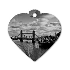 River Thames Waterfall Twin-sided Dog Tag (Heart)