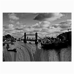 River Thames Waterfall Twin-sided Handkerchief