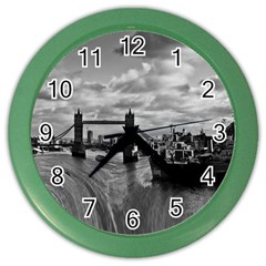 River Thames Waterfall Colored Wall Clock