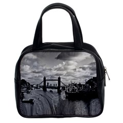 River Thames Waterfall Twin-sided Satched Handbag