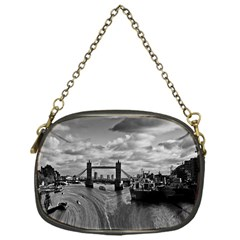 River Thames Waterfall Single-sided Evening Purse