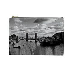 River Thames Waterfall Large Makeup Purse