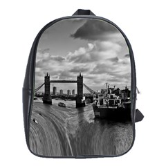 River Thames Waterfall Large School Backpack
