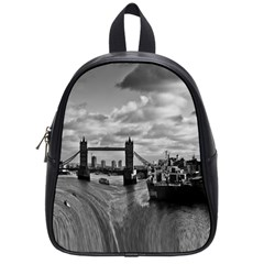 River Thames Waterfall Small School Backpack