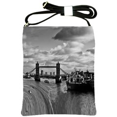 River Thames Waterfall Cross Shoulder Sling Bag