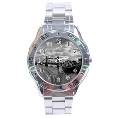 River Thames Waterfall Stainless Steel Analogue Watch (round)