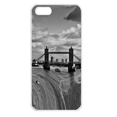 River Thames Waterfall Apple iPhone 5 Seamless Case (White)
