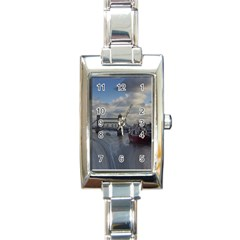 Thames Waterfall Color Classic Elegant Ladies Watch (Rectangle)