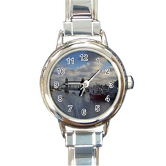 Thames Waterfall Color Classic Elegant Ladies Watch (Round)