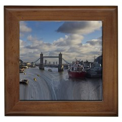 Thames Waterfall Color Framed Ceramic Tile