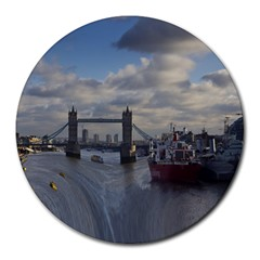 Thames Waterfall Color 8  Mouse Pad (Round)