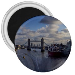 Thames Waterfall Color Large Magnet (round)