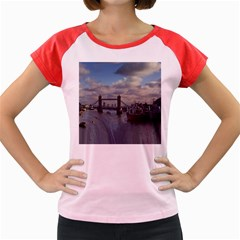 Thames Waterfall Color Colored Cap Sleeve Raglan Womens  T-shirt