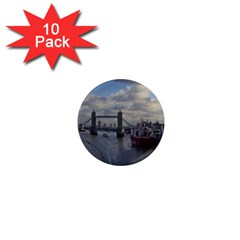 Thames Waterfall Color 10 Pack Mini Magnet (Round)