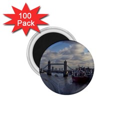 Thames Waterfall Color 100 Pack Small Magnet (round)